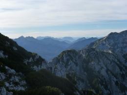 Blick in die Chiemgauer Alpen