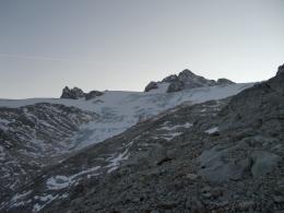 Rückblick über den Hallstätter Gletscher zum Dachstein