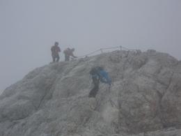 Schneetreiben beim Abstieg