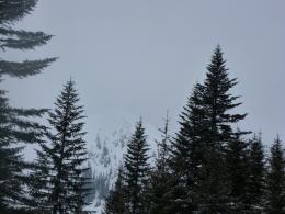 Blick Richung Sonntagshorn, der Gipfel schon in Wolken