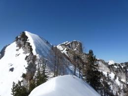 der heutige Gipfel, Blick hinüber zur Hörndlwand