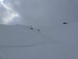 auf der Suche nach dem besten Schnee