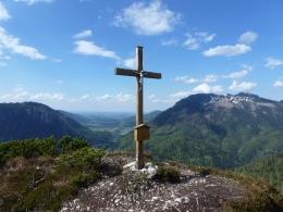 Gipfel Nr. 2, links der Unternberg, rechts der Rauschberg