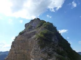 Blick zurück zu Gipfel Nr. 2