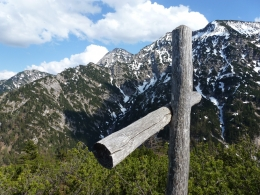 Gipfel Nr. 3, dahinter Vorderlahnerkopf, Hirscheck und Sonntagshorn