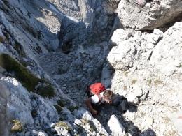 steile Schotterrinnen