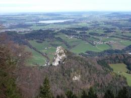Rückblick vom Gaisberg zum Nockstein
