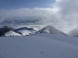 Blick nach Tirol, im Vordergrund rechts der Karkopf
