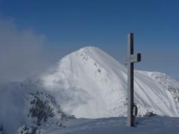 Gipfelkreuz Breitenstein mit Geigelstein