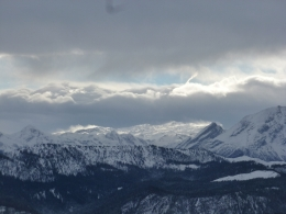 Föhnwalze und Schneefahnen über den Berchtesgadener Alpen