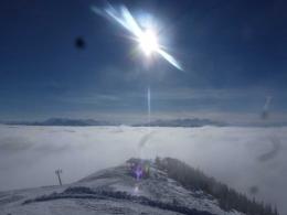 knapp über der Nebelsuppe