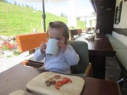 mhhhhhhhhhh, Brotzeit mit frischer Milch