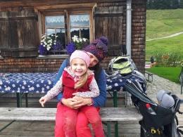 zweite Brotzeit am Alpstüble Moos