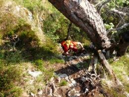 Abstieg vom ersen Gipfelkreuz