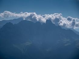 Bischofsmütze, Wolken, Dachstein